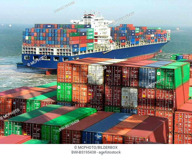 Container ship in China, China