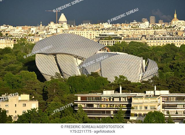 The Fondation Louis Vuitton pour la création, a space for art and culture was conceived by architect Frank Gehry in Bois de Boulogne, Paris, France