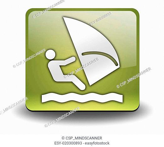 Icon, Button, Pictogram Windsurfing