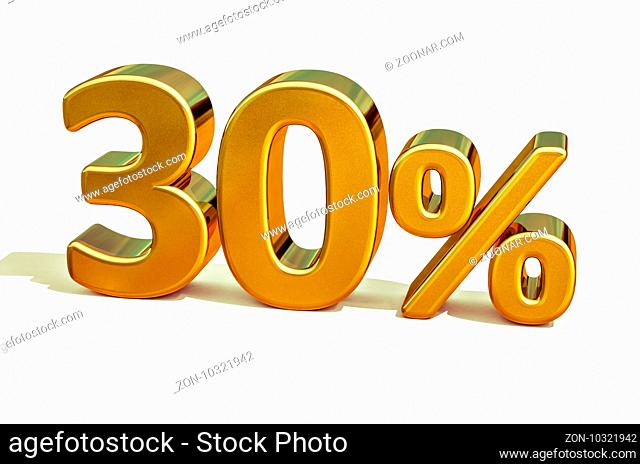 Gold Sale 30%, Gold Percent Off Discount Sign, Sale Banner Template, Special Offer 30% Off Discount Tag, Thirty Percentages Up Sticker, Gold Sale Symbol