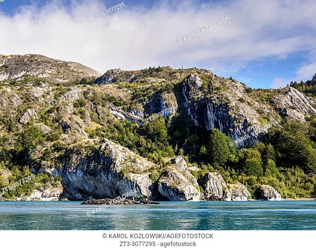 General Carrera Lake, Puerto Rio Tranquilo, Aysen Region, Patagonia, Chile