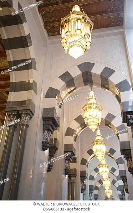 OMAN-Muscat-Al-Ghubrah: Grand Mosque-Main Hall Archways