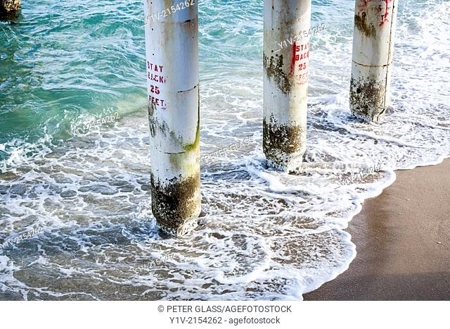 Footings of a pier at the beach