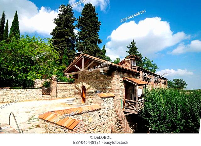 Saint Nino Bodbe Monastery is located in the Georgian village of Bodbe, which is located near Sighnaghi in Kakheti, Georgia