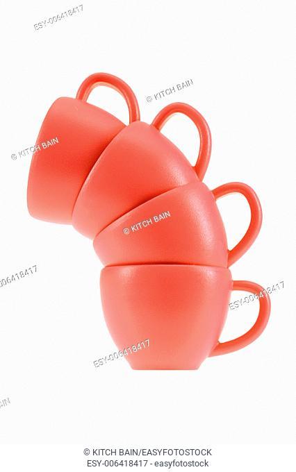A close up shot of tea cups