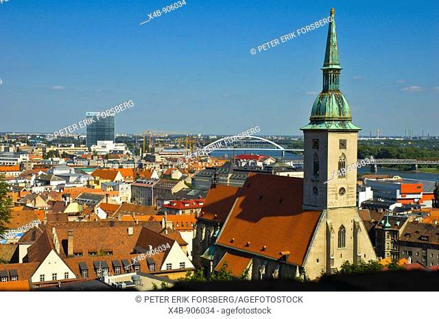 View from Bratislava castle Slovakia EU