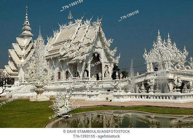 The amazing white temple Wat Rong Khun in Chiang Rai, Thailand