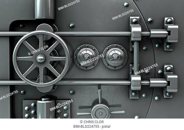 Close up of vault door