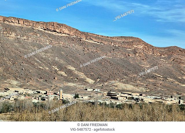 Berber village located deep in the High Atlas Mountains in Morocco, Africa. - MOROCCO, 02/01/2016