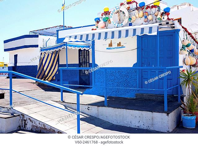 -Traditional Fisher's Cottages in Agaete- Canary Island Spain