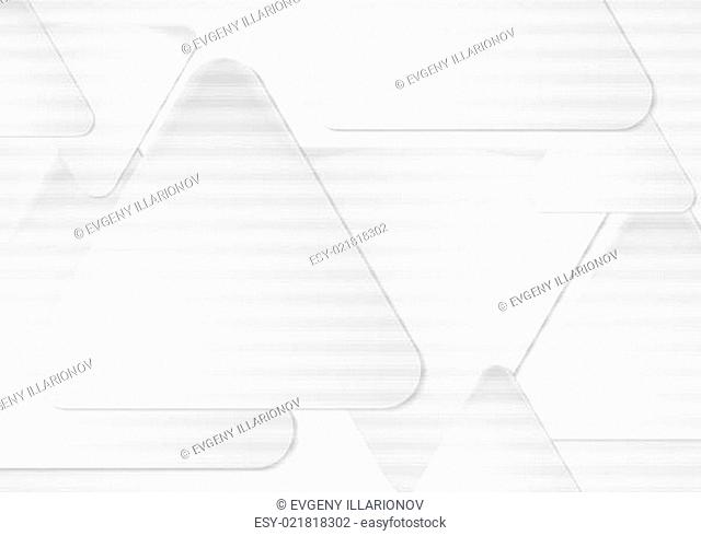 White triangles. Vector abstract background