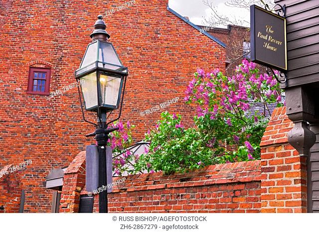 Paul Revere House on the Freedom Trail, Boston, Massachusetts USA