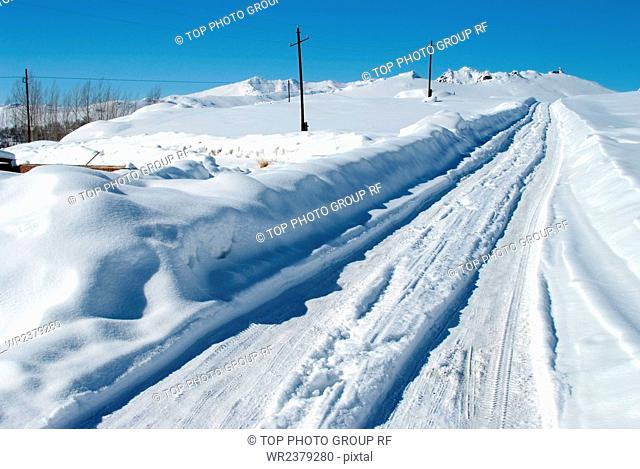 Xinjiang Aletai snow scenery