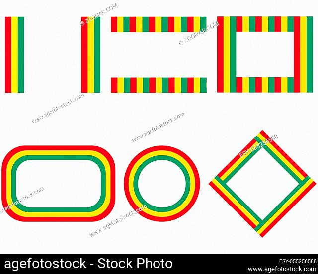 Fahnen von Guinea mit Textfreiraum - Flags of Guinea with copy space