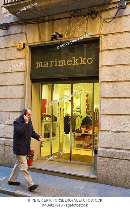 Marimekko shop in central Girona Catalonia Spain EU