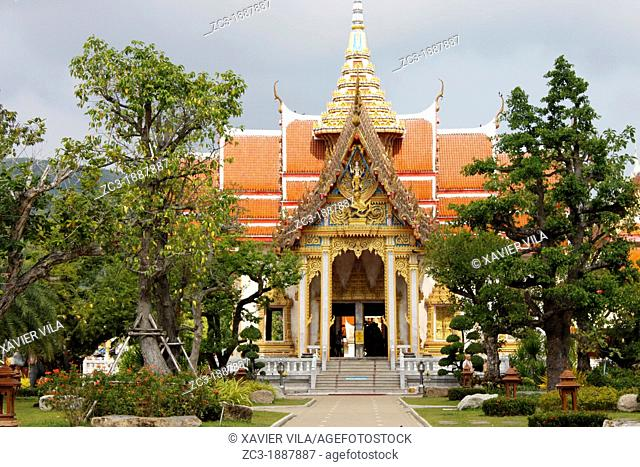 Wat Chalong temple, the largest and most prominent of the 29 Buddhist temples on the island of Phuket, Province of Phuket, Thailand