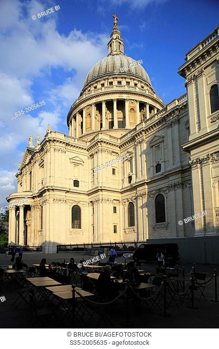 St Paul's Cathedral under afternoon sun. London. England. United Kingdom