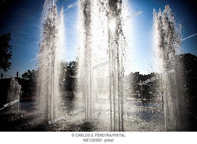 Fountain detail in Lyon, Rhone Alps, France
