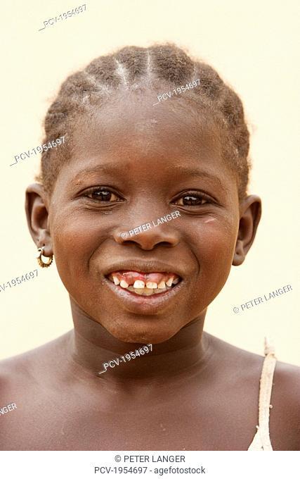 Portrait of a happy girl in Segou, Mali