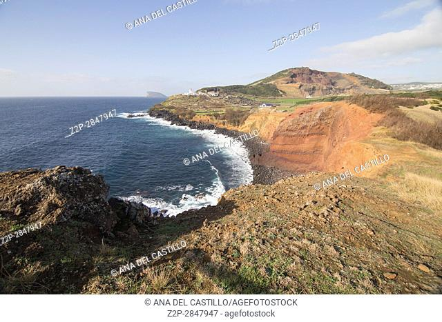 Landscape in the South of Terceira island Azores Portugal