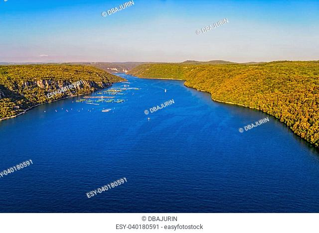 The Lim bay and valley is a peculiar geographic feature found near Rovinj and Vrsar on the western coast of Istria, Croatia