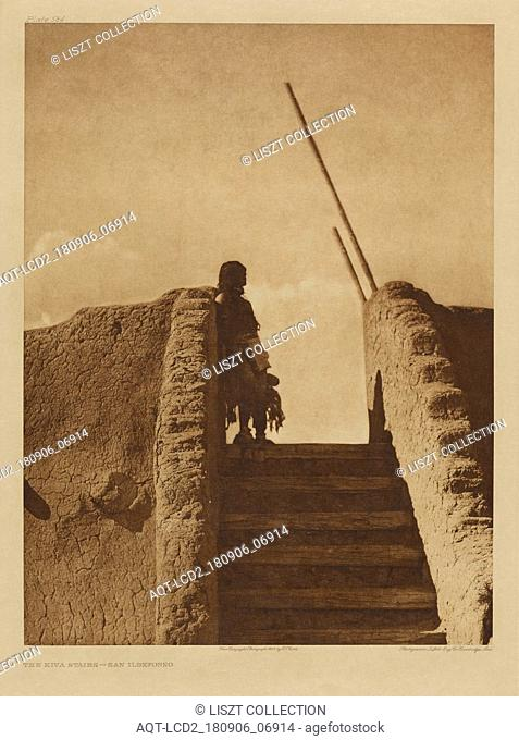 The Kiva Stairs - San Ildefonso; Edward S. Curtis (American, 1868 - 1952); 1925; Gravure; 39.1 x 29.4 cm (15 3,8 x 11 5,8 in.)