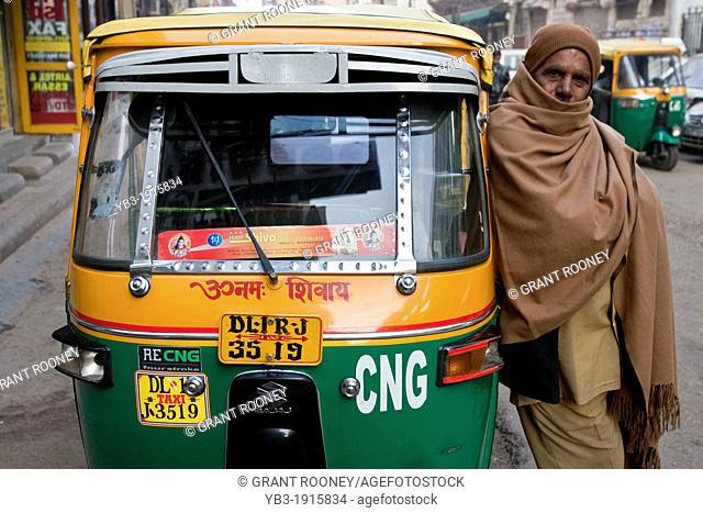 Auto Rickshaw taxi Driver, New Delhi, India