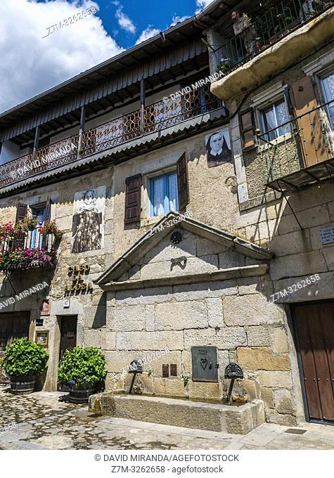 Casa típica en Mogarraz. Sierra de Francia. Salamanca. Castilla León. España