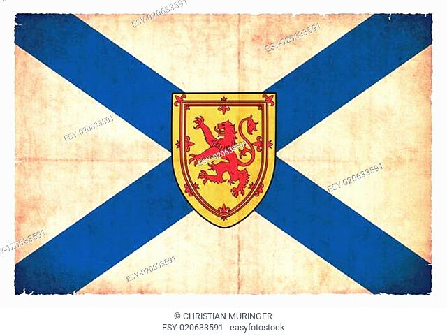 Grunge-Flagge Nova Scotia (Kanadische Provinz)