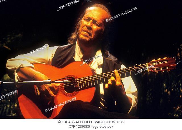 `Paco de Lucia'Francisco Sánchez Gómez  Flamenco guitarist  Municipal Auditorium Seville, Andalusia, Spain