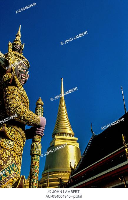 thailand. bangkok. grand palace and emerald buddha temple wat phra kaeo