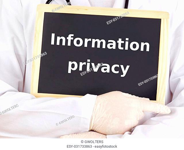 Doctor shows information: information privacy
