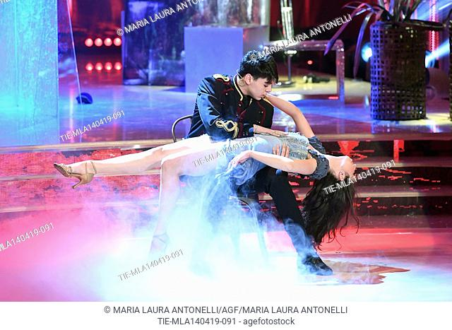 Marco Leonardi during the performance at the talent show ' Ballando con le stelle ' (Dancing with the stars) Rome, ITALY-14-04-2019