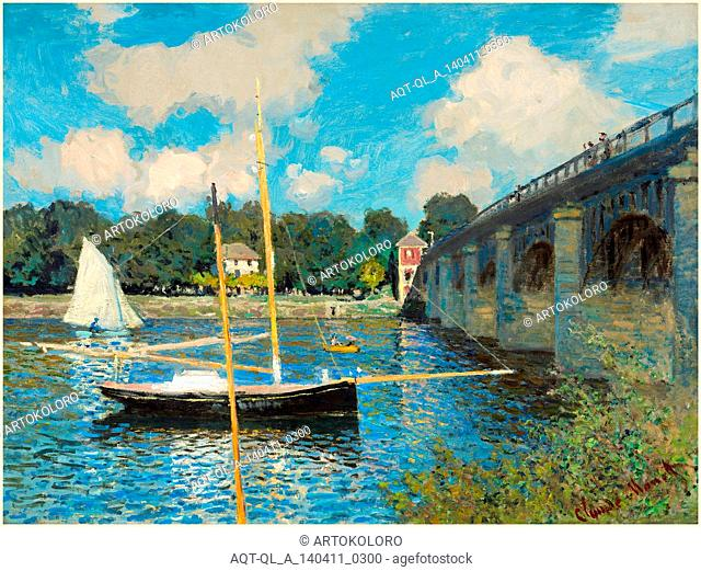 Claude Monet, French (1840-1926), The Bridge at Argenteuil, 1874, oil on canvas