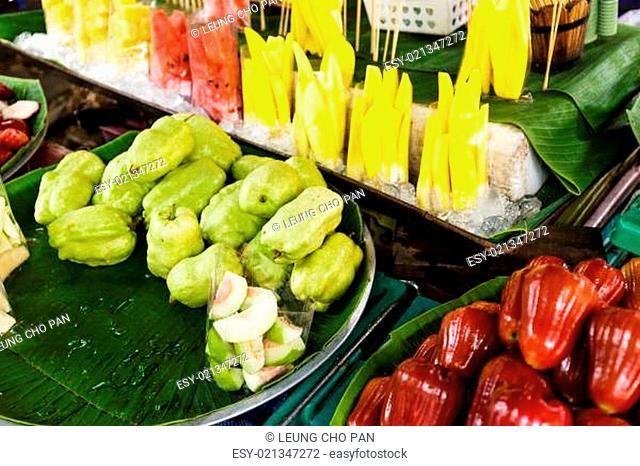 Fruit in the street market at Thailand