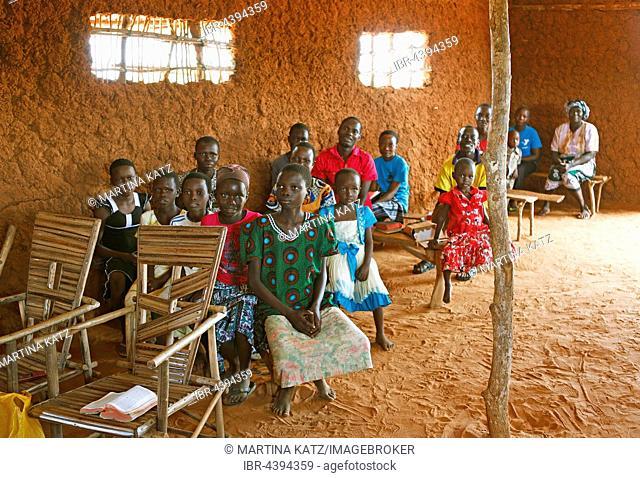 Faithful villagers in a church, Kilifi County, Kenya