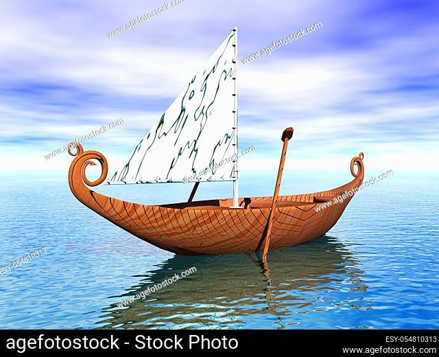 Elben Boot mit Segel