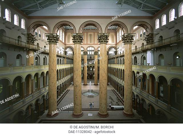 Interior of the National Building Museum, Washington DC, District of Columbia, United States of America. Washington, National Building Museum