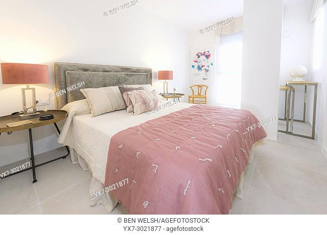 Bedroom, Indoor real estate. Malaga, Andalusia, Spain