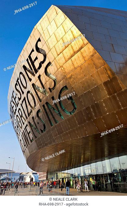 Wales Millennium Centre, Cardiff Bay, Cardiff, South Glamorgan, Wales, United Kingdom, Europe