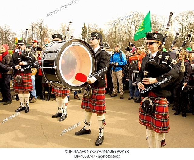 St. Patrick's Day parade, Moscow, Russia