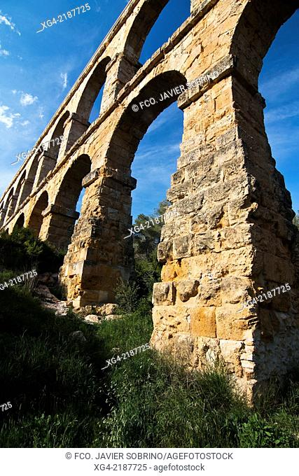 Ferreres Roman aqueduct - Pont del Diable - Tarragona - Catalonia - Spain - Europe