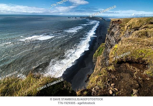 Reynisfjara black sand beach in Vik, southern Iceland