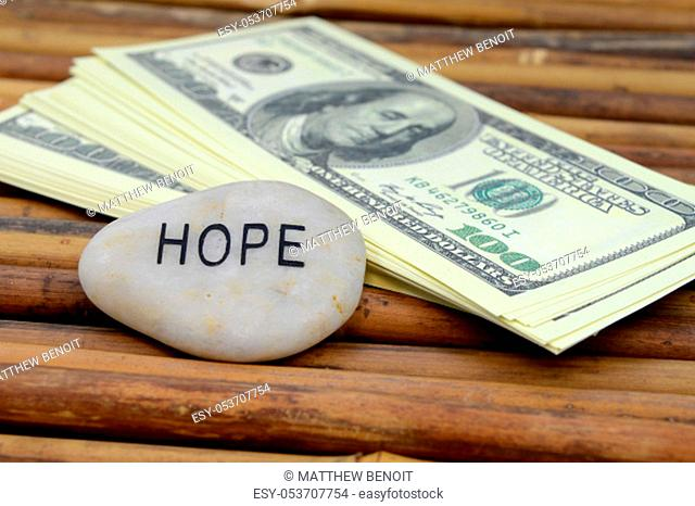 An affirmation to be hopeful in wealth and abundance