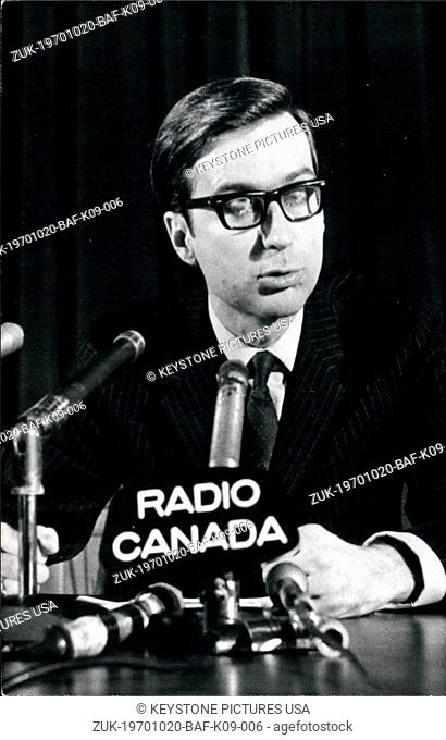 Oct. 20, 1970 - Robert Bourassa Quebec Prime Minister (Credit Image: © Keystone Press Agency/Keystone USA via ZUMAPRESS.com)