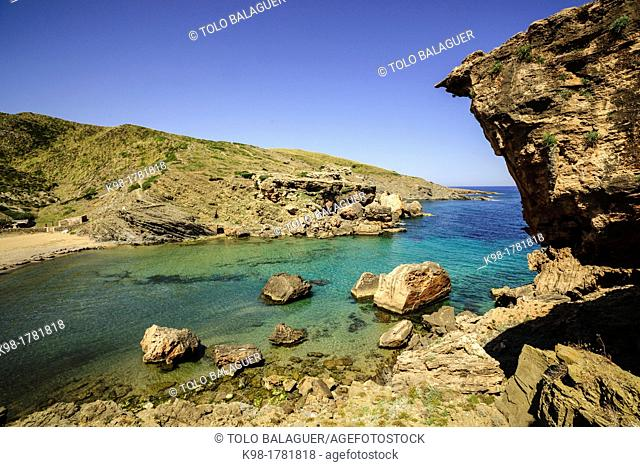 Beach, Cala En Calderer, Ferreries, Menorca, Balearic Islands, Spain, Europe