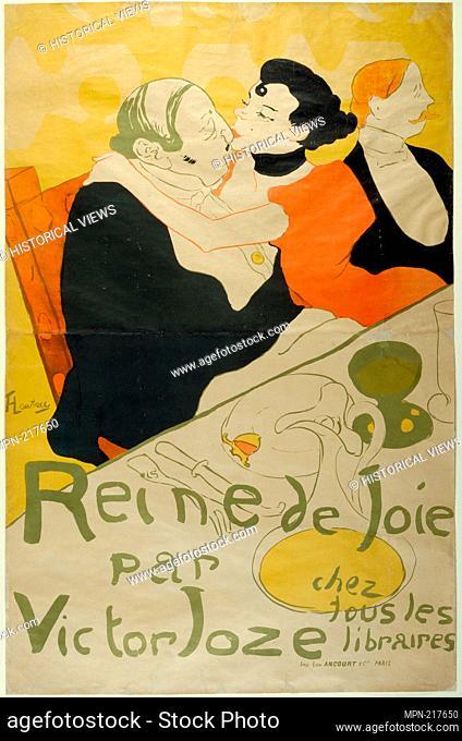 Reine de Joie - 1892 - Henri de Toulouse-Lautrec (French, 1864-1901) printed by Ancourt & Cie. - Artist: Henri de Toulouse-Lautrec, Origin: France, Date: 1892