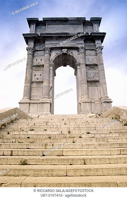 Italy, Marche, Ancona, Arco di Traiano, Arch of Trajan