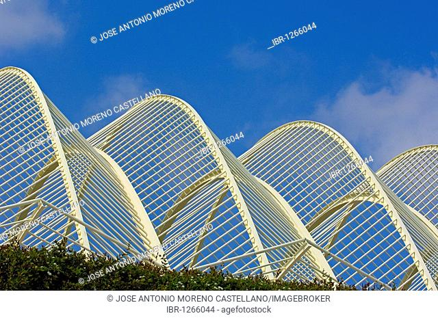 L'Umbracle, by S. Calatrava, City of Arts and Sciences, Comunidad Valenciana, Valencia, Spain, Europe