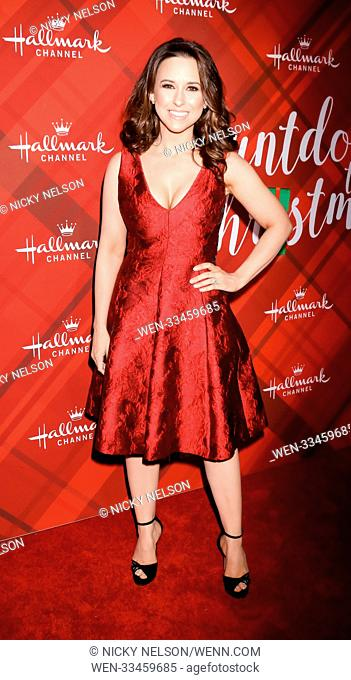 Hallmark's 'Christmas at Holly Lodge' screening at 189 The Grove Drive - Arrivals Featuring: Lacey Chabert Where: Los Angeles, California